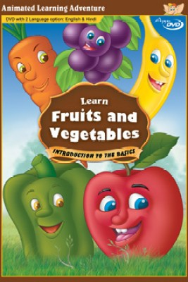 Learn Fruits And Vegetables (Bilingual - English & Hindi)