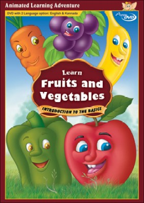 Learn Fruits And Vegetables (Bilingual - English & Kannada)