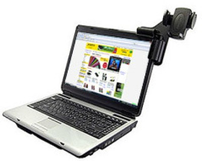 Amzer 83577 Laptop Mobile Connect with Universal Cell Phone Holder