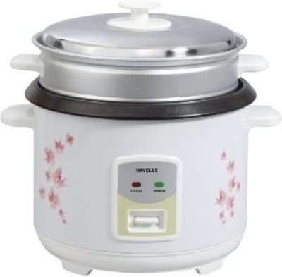 Havells MAX COOK 1.8 OL Electric Rice Cooker with Steaming Feature(1.8 L)