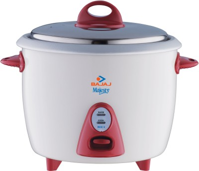 Bajaj Majesty New RCX 3 Electric Rice Cooker(1.5 L, White and pink)