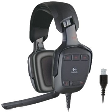 Logitech G35 Surround Sound Wired Headset With Mic(Black)