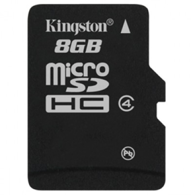 Kingston 8GB MicroSDHC Class 4 (4MB/s) Memory Card