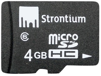 Strontium 4  GB MicroSD Card Class 6 24 MB/s  Memory Card available at Flipkart for Rs.275