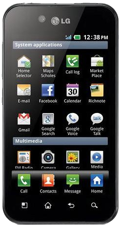 LG Optimus Black P970 (Black Titan, 2 GB)