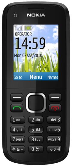 Nokia C1-02(Black)