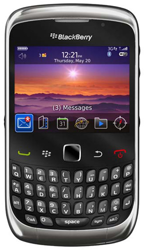 Blackberry Curve 3G 9300 (Graphite Grey, 256 MB)(256 MB RAM)