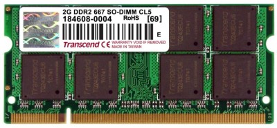Transcend DDR2-667/PC2-5300 DDR2 2 GB La...