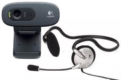 Logitech C270h HD Webcam (with Headphone)