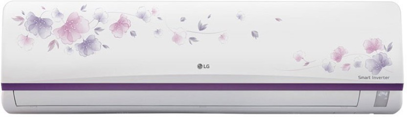 LG 1 Ton Inverter (3 Star) Split AC  - White -Flower