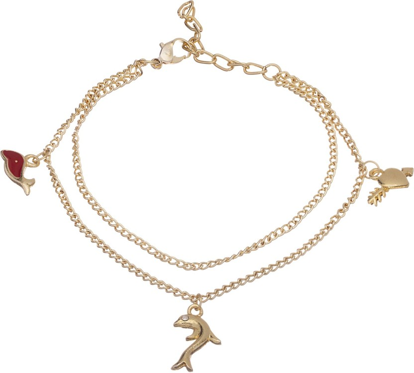 Crunchy Fashion Fish Charm Anklet Alloy Anklet