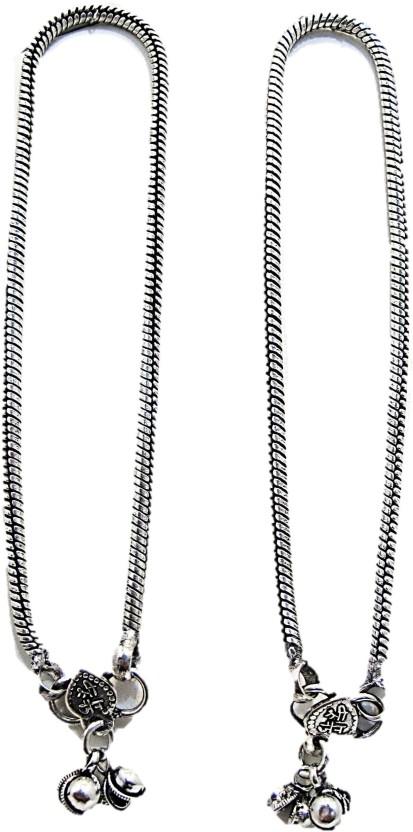 Muccasacra pair of sterling silver Anklet Sterling Silver Anklet