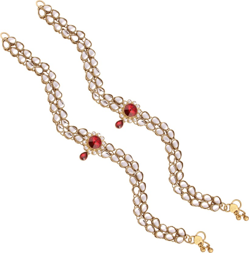 I Jewels A019MG Alloy Anklet