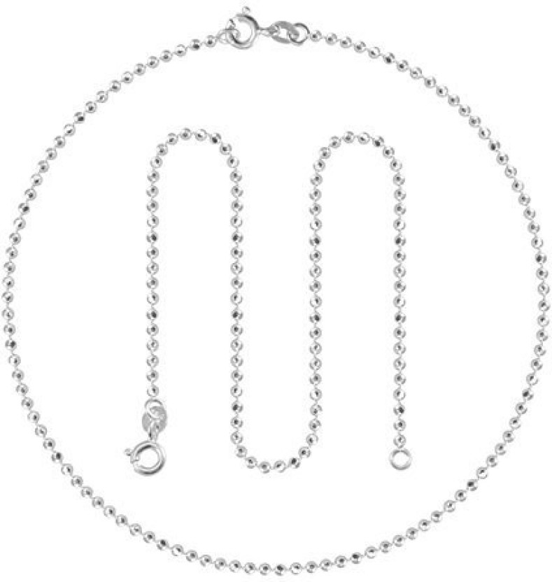Vaibhav 9.5 Inch Anklet For Girls In 925 Silver With Multi Charms Sterling Silver Anklet
