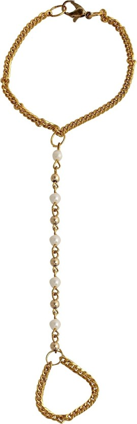 Crunchy Fashion Pearls Alloy Toe Anklet