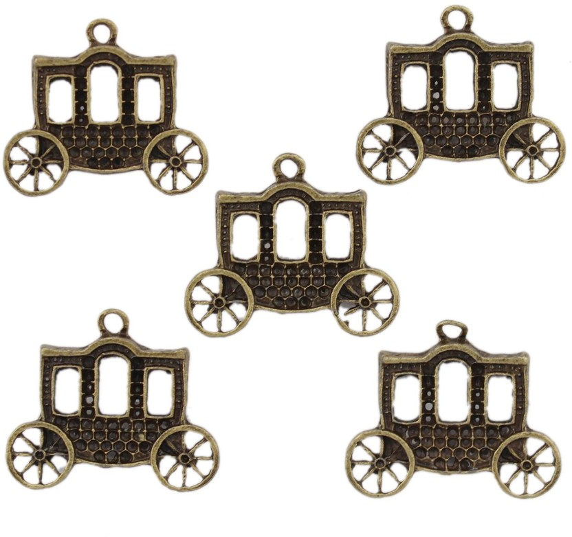 Tootpado Buggy Flat Back Metal Craft & Scrapbooking Embellishments (1l1071) - Antique Charms and Pendants