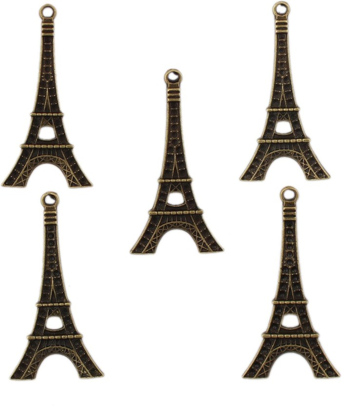 Tootpado Eifel Tower Flat Back Metal Craft & Scrapbooking Embellishments (1l1068) - Antique Charms and Pendants