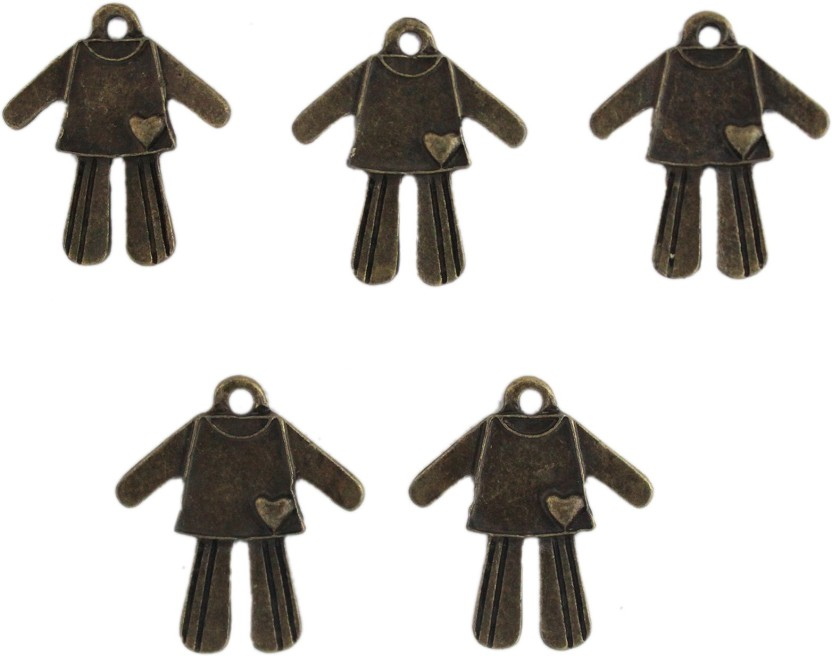 Tootpado Man/Women Heart Flat Back Metal Craft & Scrapbooking Embellishments (1l1058) - Antique Charms and Pendants