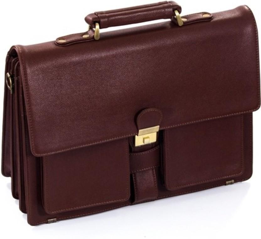 Leather18 Office executive bag Waterproof School Bag