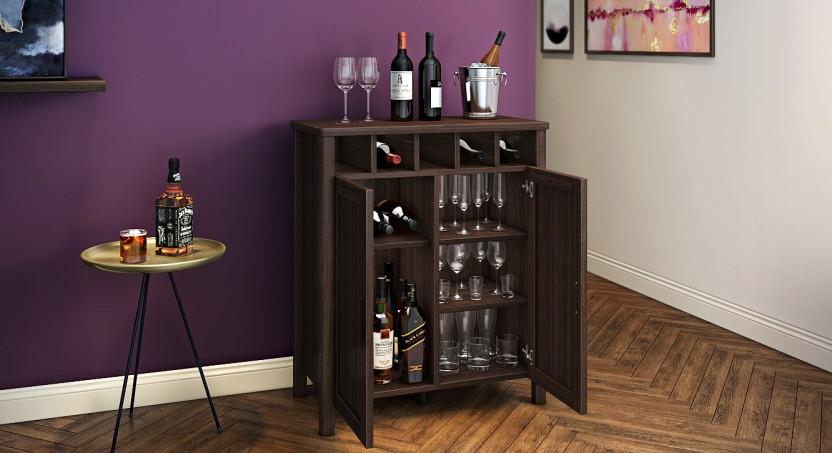 Urban Ladder Norland Engineered Wood Bar Cabinet