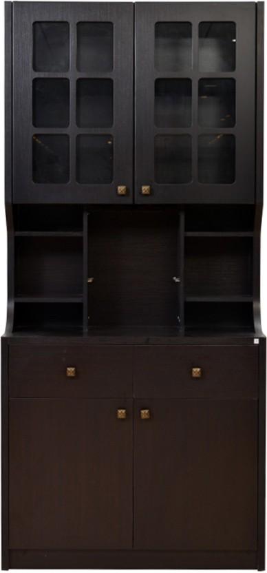 HomeTown Calino Solid Wood Bar Cabinet
