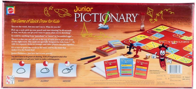 Mattel Games Words Junior Classic Board Game Board Game
