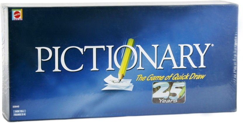 Mattel Games Pictionary-The Game of Quick draw Board Game