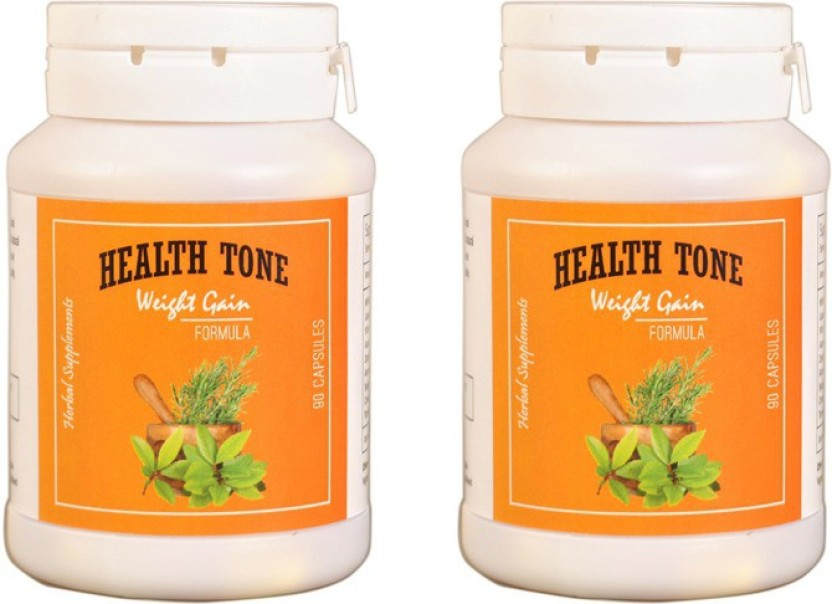 Health Tone HealthTone Health Tone Herbal Weight Gain Capsules (90 Caps) (500 g) (Pack of 2)