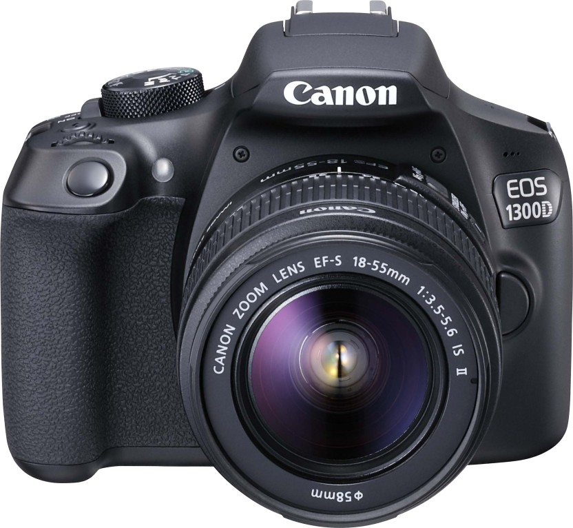 Canon EOS 1300D DSLR Camera Body with Single Lens: EF-S 18-55 IS II (16 GB SD Card)