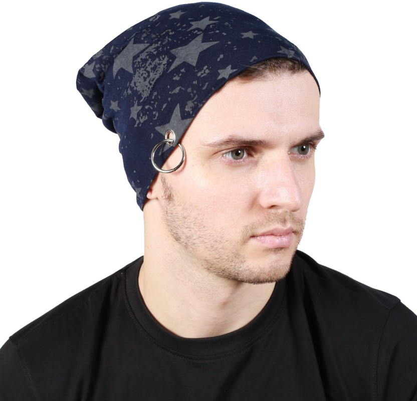 Noise Fault in our stars Beanie-Blue With Ring Printed Skull Cap
