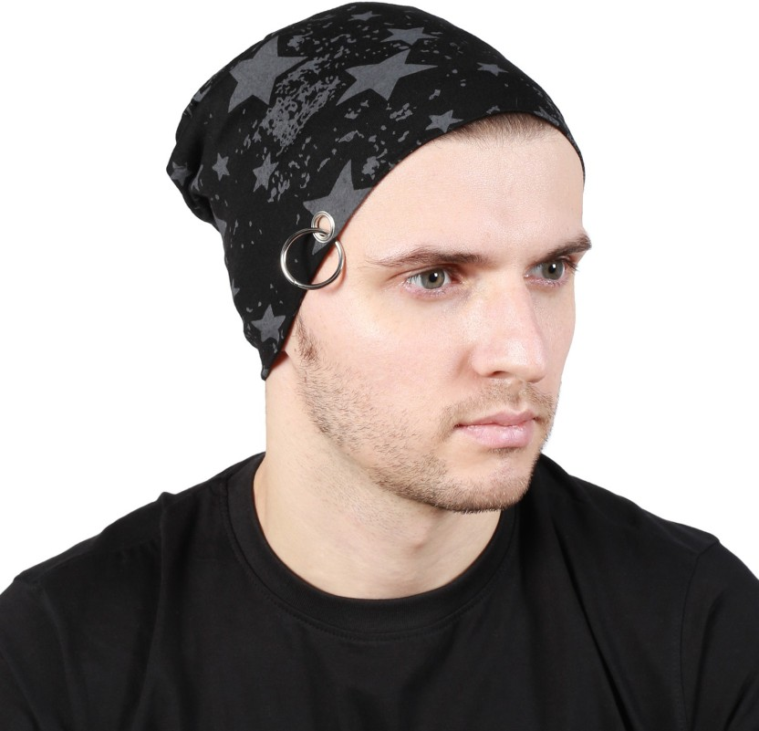 Noise Fault in our stars Beanie-Black With Ring Printed Skull Cap