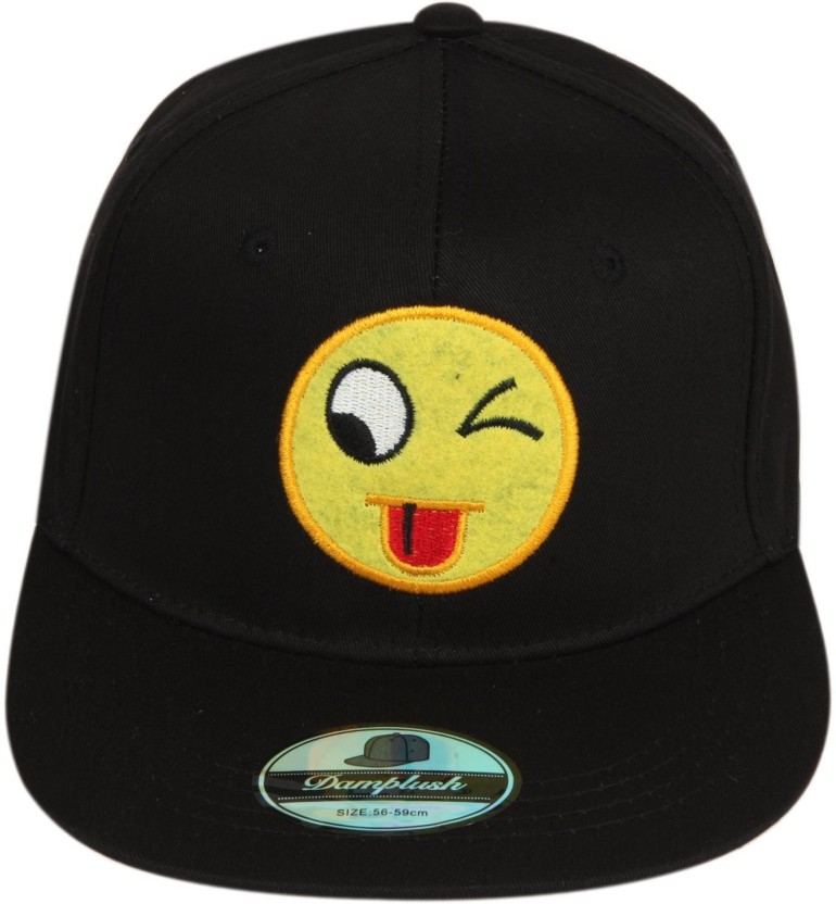 ILU Solid Smiley Caps for man and woman, Baseball cap, Hip Hop, snapback Cap, hiphop caps, trucker caps, Snapback, dad caps, hats, hat, black cap, cotton caps, girls, boys, smiley, mesh caps, Cap Cap