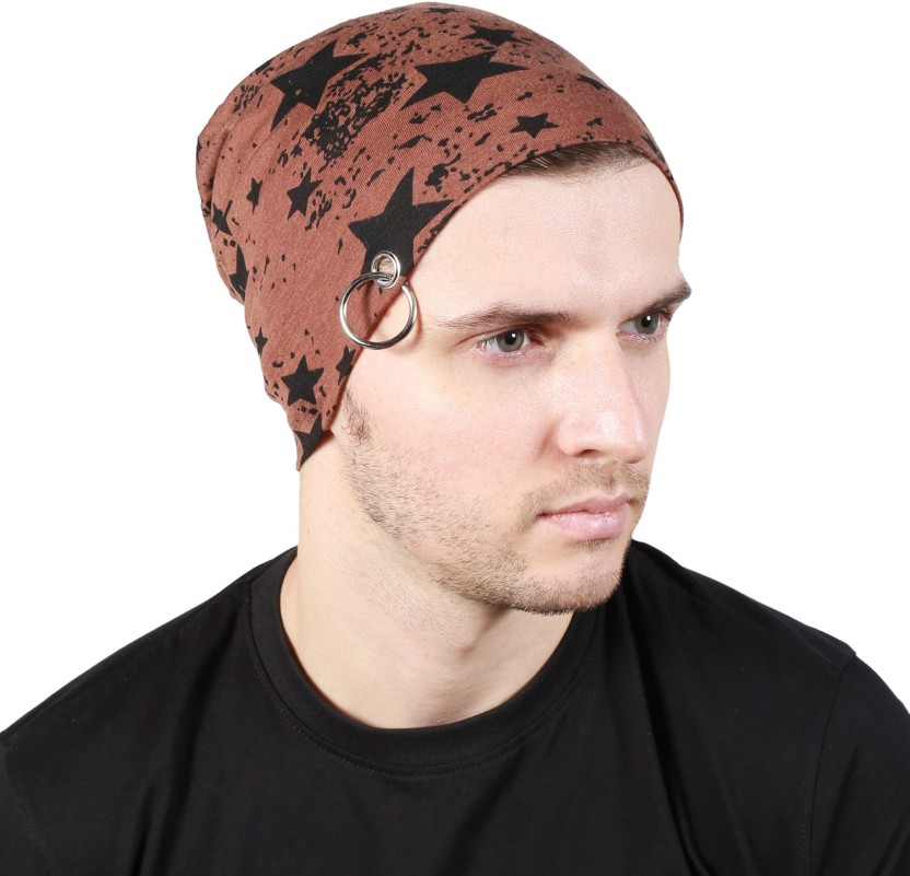 Noise Fault in our stars Beanie-Brown With Ring Printed Skull Cap