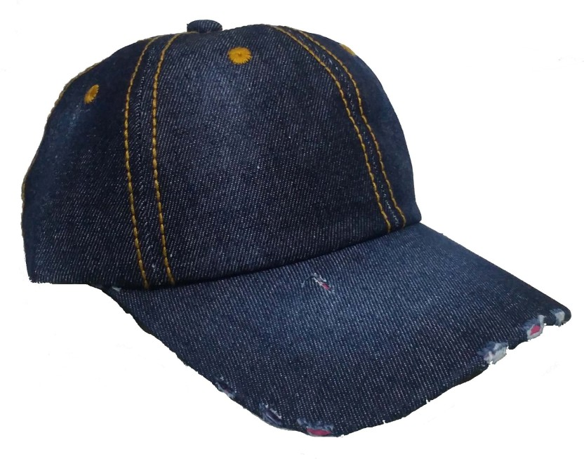 Babji Self Design Dark Blue Hard Cotton Cap