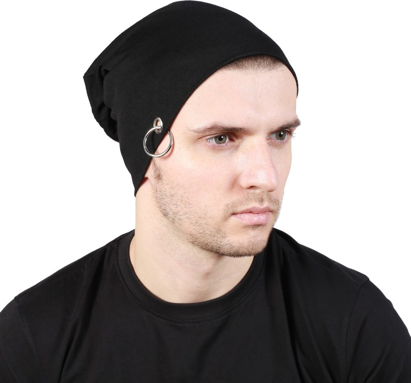 Noise Midnight Black Solid Skull Cap