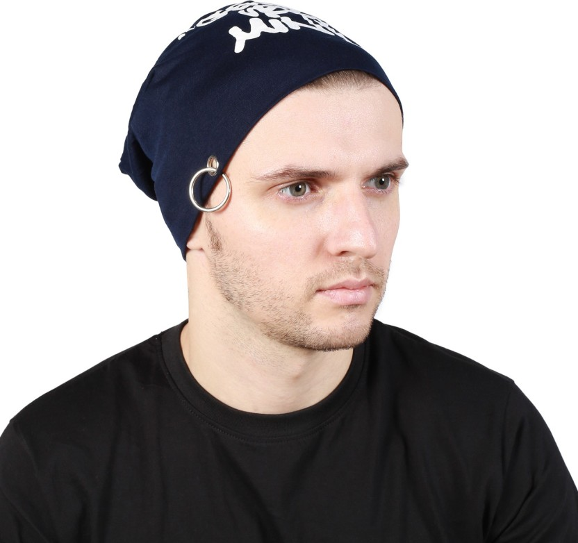 Noise Genuine Urban Minds Beanie-Blue With Ring Printed Skull Cap