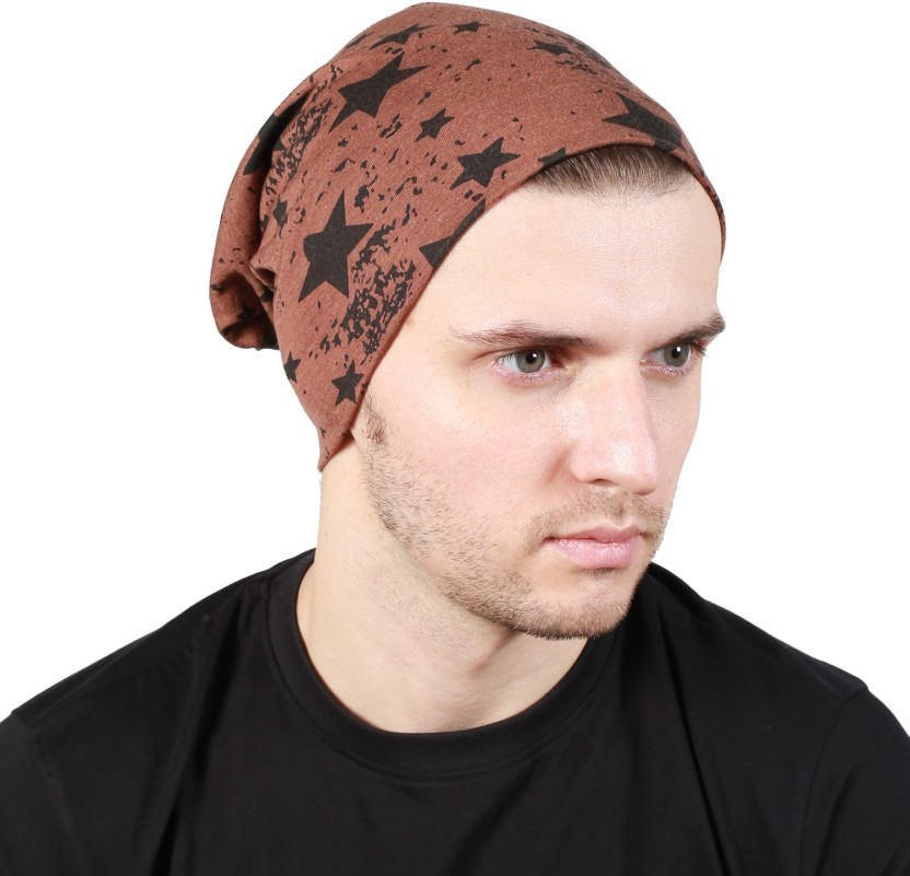 Noise Fault in our stars Beanie-Brown Printed Skull Cap