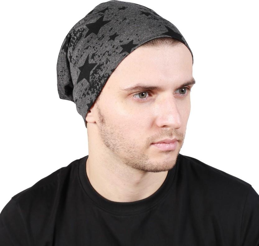 Noise Fault in our stars Beanie-Dark Grey Printed Skull Cap