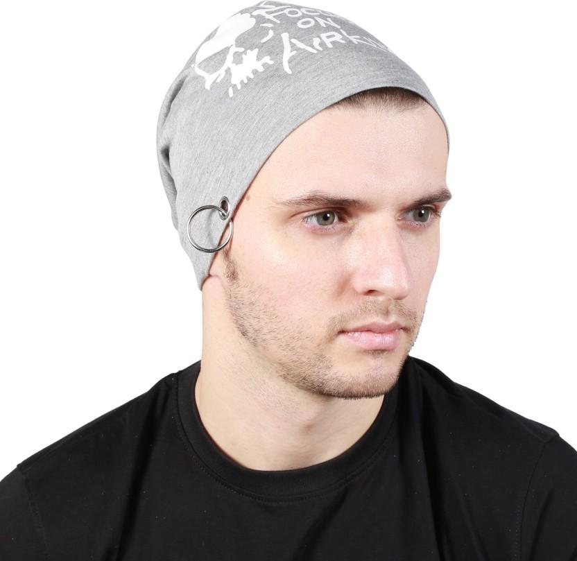 Noise Be a Star Beanie- Dark Grey Printed Skull Cap