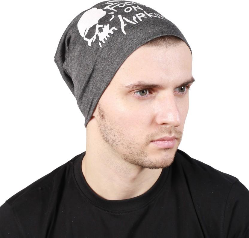 Noise Focus on Airking Dark Grey Beanie Printed Skull Cap
