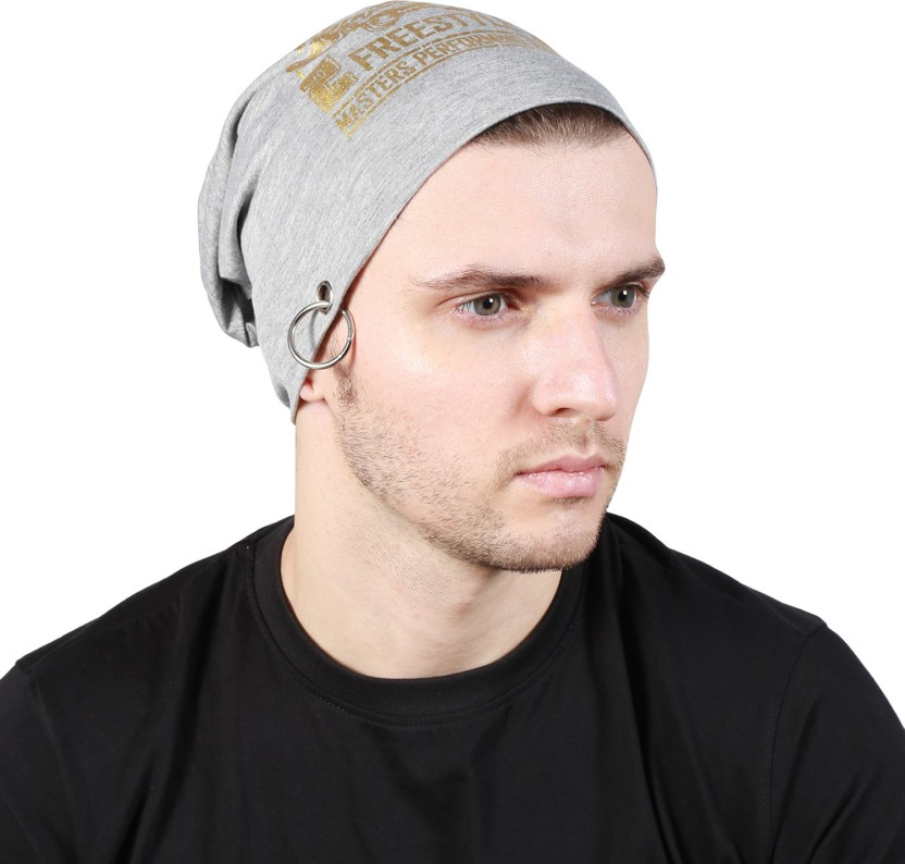 Noise Pirates of Coral beanie With Ring Printed Skull Cap