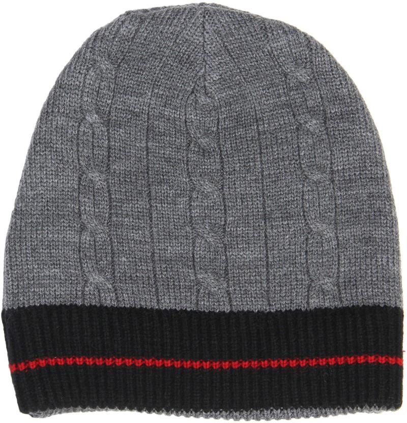 Yuvi Striped Skull Cap Cap