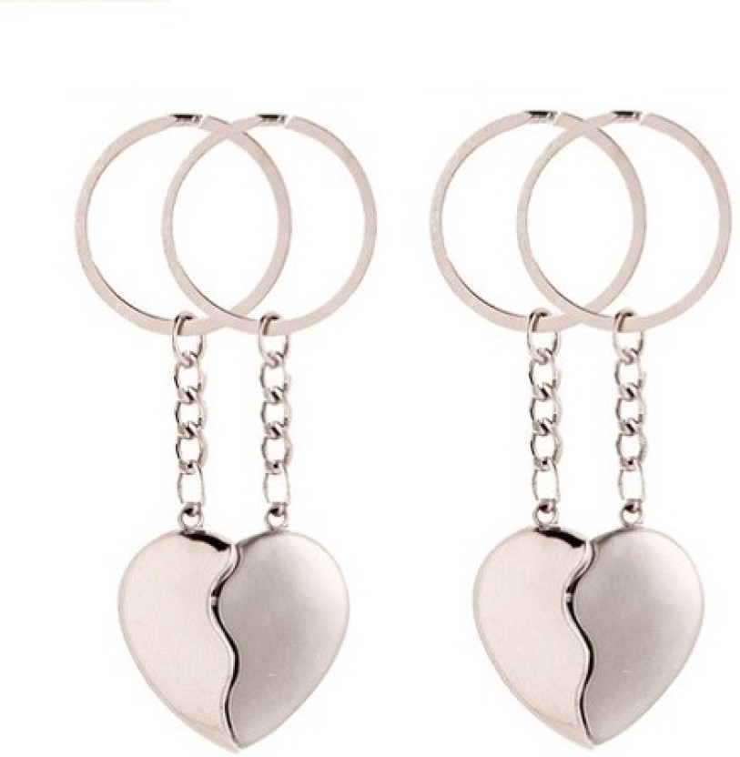Phoenix Pack Of 2 Silver Broken Heart Key Chain