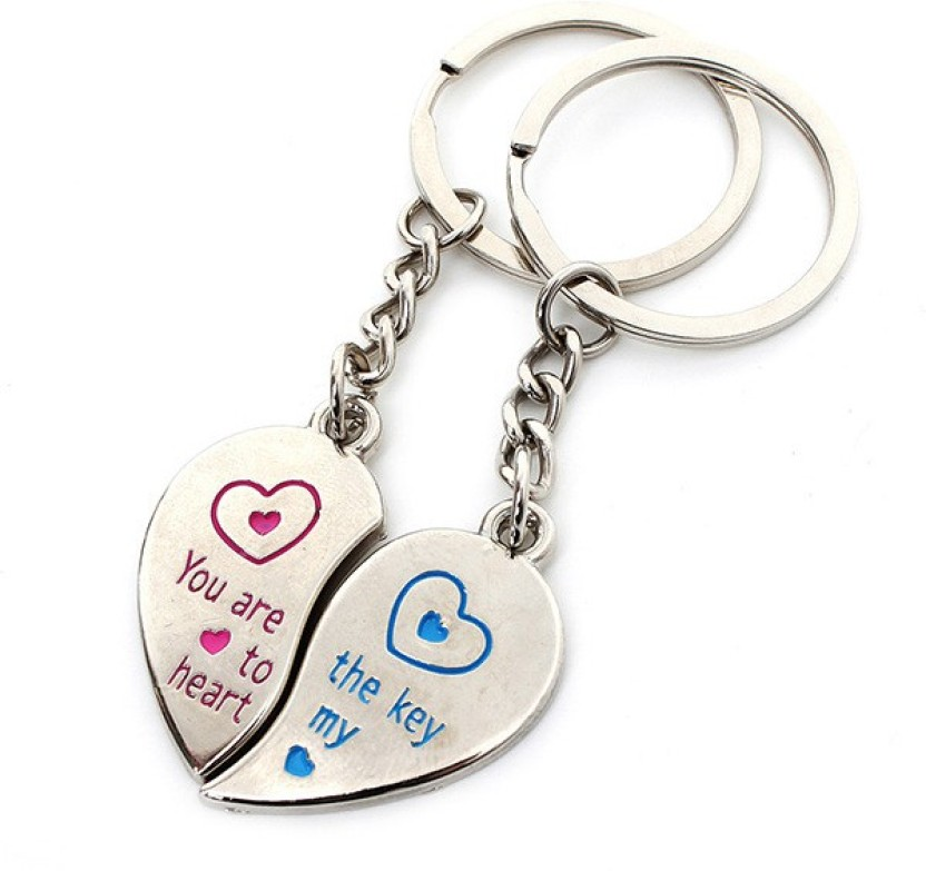 CTW couple love you my heart valentine Gift Pack Key Chain