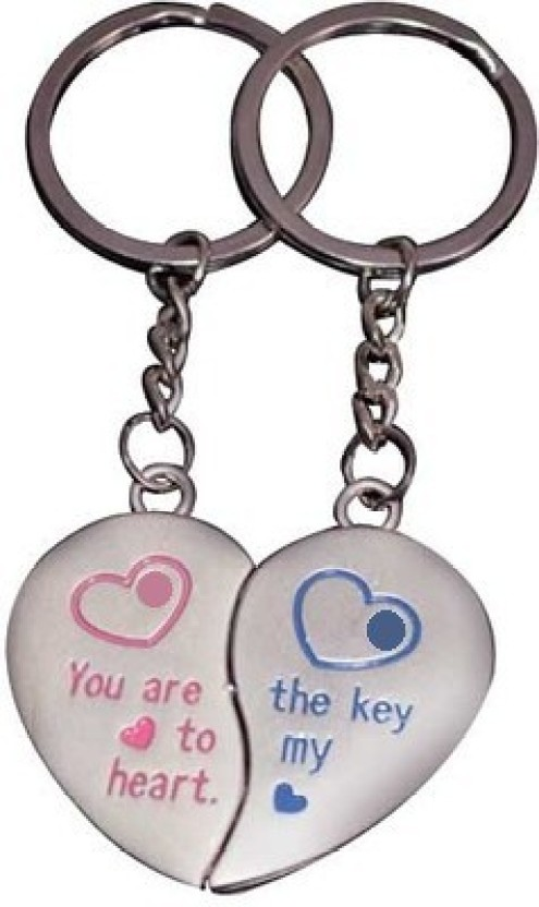 U. R. GOD You are the Key to My Heart Magnetic Pair Key Chain