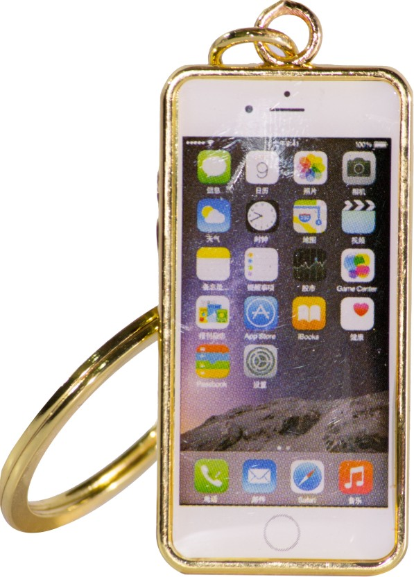 Oyedeal Iphone Shape Gold KYCN1683 Key Chain