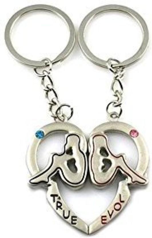 GCT True Love Heart Magnetic Couple Metal Key Chain