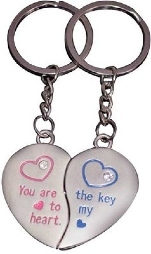 ShopnGift You Are The Key To My Heart Couple Key Chain