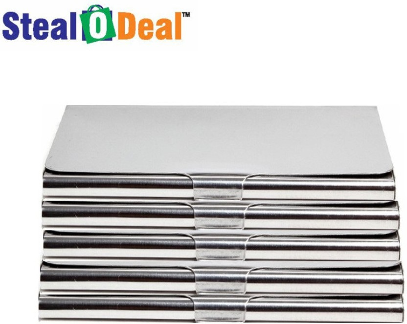 Stealodeal 5pc Stainless Steel 6 Card Holder