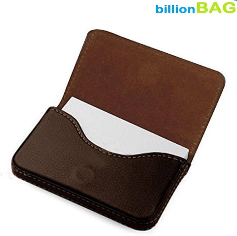 Billionbag Soft Brown Leather Business Visiting 15 Card Holder
